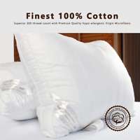 New Premium Hotel Quality Pillows Luxury Soft Microfiber Pillows Cotton Bed Room