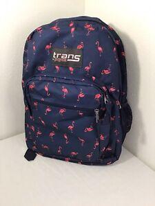 "Trans by Jansport 17"" SuperMax Backpack--Flamingo Cruise Tropics Laptop Bag"