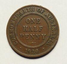 1920 Australian Half Penny Scarce Date (HF169)