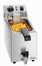 Bartscher Gastro Tisch-Fritteuse mit Fett-Ablasshahn 4 Liter 230V 2000W NEU