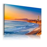 CALIFORNIA BEACH OCEAN Perfect View Canvas Wall Art Picture Large SIZES AB31 X