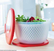 Tupperware Spin N Save Salad Spinner & Seal New Design 2017 Red & White New