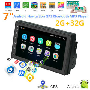 """Car 7"""" Android 9.0 2.5D Navigation MP5 Player GPS Bluetooth 2 USB Built-in Map"""