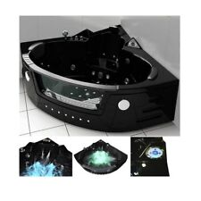 Vasca idromassaggio angolare 150x150 colore nero 20 getti cromoterapia radio |b