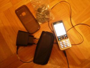 Nokia  6300 - Silver Black  Handy ohne simlook Edelstahl Gehäuse