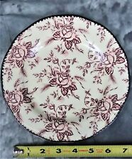 VTG COLLECTIBLE WOOD & SONS COLONIAL ROSE PINK SALAD PLATE MADE IN ENGLAND