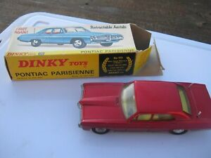 DINKY 173 PONTIAC 1969-73 PARISIENNE GOOD ORIGINAL CAR & GOOD ORIGINAL BOX .