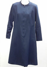 Vintage dress Salvation Army womens church uniform c 1960s 1970s Navy blue 12/14
