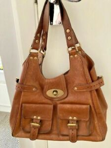 MULBERRY AUTHENTIC VINTAGE TAN LEATHER ANNIE BAG