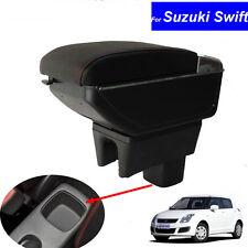 Leather Car Center Console Armrests Storage Box for Suzuki Swift 2008~2016 2017