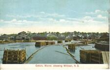 Calais Maine ME ~ Showing Milltown (misspelled) St. Stephen NB ~ c1908 Postcard