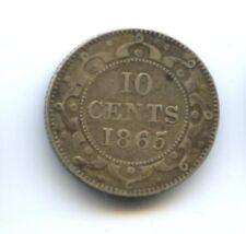 CANADA NEWFOUNDLAND VICTORIA (1837-1901) 10 CENTS 1865 KM 3