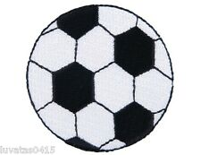 Football Soccer Ball Embroidered Motif Patch Applique Badge Sew/ Iron on