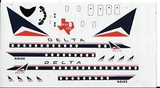 Loose, Big Cal D Delta Airlines DC-8 Fanjet Decals 1/144 No Instructions