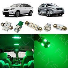15 Piece Green LED interior conversion kit for 2010-2014 Lexus RX350 RX450h LR3G