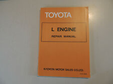 1980/81 Engine Work shop repair manual Toyota Crown Cressida Hiace Toyoace Hilux
