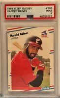1988 Fleer Glossy #391 Harold Baines PSA Mint 9 Chicago White Sox