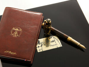 """S.T. Dupont Prestige Collection """"Vetruvian Man"""" Writing Kit Style: C41007N"""