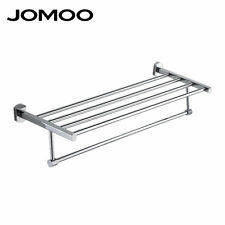 JOMOO Wall Mounted Towel Rack Holder Storage Shelf Bathroom Hotel Solid Brass
