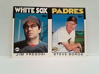 1986 Topps MANAGERS Jim Fregosi + Steve Boros UNCIRCULATED