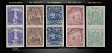 1896  EL SALVADOR VERTICAL PAIR PROOF'S - NORMAL TO THIN PAPER HINGED