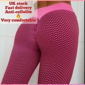 Women Anti-Cellulite Yoga Pants High Waist Fitness Gym Leggings Ruched Trousers