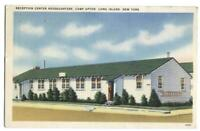 Postcard Reception Cetner Headquarters Camp Upton Long Island New York NY