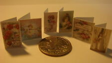 DOLLSHOUSE  Miniature  Vintage Ladies Birthday Cards   - CDHM 1:12