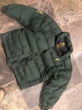 Youth Girls Boys Green Browning  XL Goose Down Green Puffer Jacket Coat Hunt
