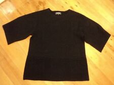 black BASQUE tunic jumper thick large 12 stretch pockets  worn once