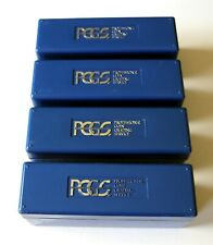 PCGS Blue Plastic Coin Storage Box (Holds 20 Coins Each), 4 Boxes