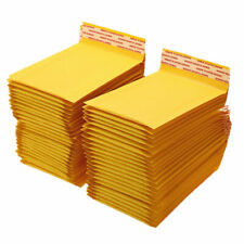 50/100/200/500 Kraft Bubble Mailers Padded Envelope Shipping Bags Seal Any Size