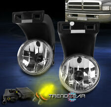 1994-2001 DODGE RAM 1500 2500 3500 BUMPER DRIVING CHROME FOG LIGHT LAMP W/3K HID