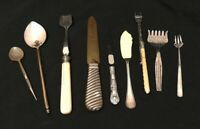Vintage /Antique Mainly Silver Plated Cutlery Forks Spoons Knives Nine items