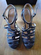 Nicole Farhi Twisted Strappy Brown Sandals    EU 40    £279    BNIB