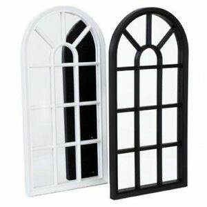 Window Style Mirror Living Room Decor Hallway Home Panel Wall Glass 69 x 34 cm