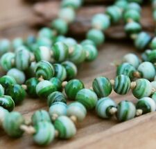 Vintage Necklace Glass Jade Green 50s Costume Jewellery Beads Old Jewelry