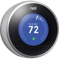 REPLACEMENT PART: Nest 2nd Generation Learning Thermostat - Stainless Steel READ