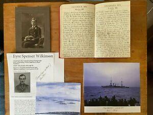 1918 Handwritten WWI Diary Lt Commander Wilkinson HMS Oak Scotland Baltic Sea