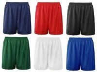 Boys Girls Unisex Kids Children Shadow Stripe P.E Football School Sports Shorts