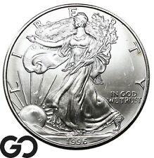 1996 American Eagle Silver Dollar, 1 OZ Fine Silver Bullion