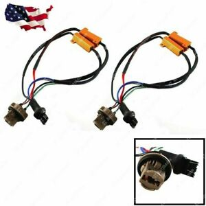 2 x 7443 7444 Load Resistor Fix Hyper Flash For Switchback LED Turn Signal Light