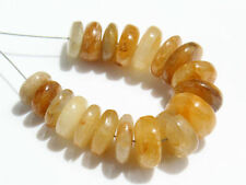 Natural Yellow Sapphire Smooth Rondelle Gemstone Beads (44040)