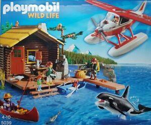 Playmobil 5039 Wild Life Fischerhütte mit Wasserflugzeug 148-teilig Neu/Ovp