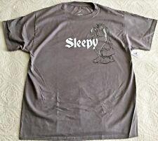 DISNEY Parks Snow White & 7 Dwarfs SLEEPY Gray T-Shirt Size Large - NWT