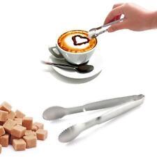 3PCS/Set Mini Stainless Steel Ice Cube Sugar Tongs Food Clip Salad Bread Clamp