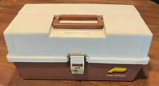 Vintage Plano 6303 Brown and Tan 3 Tray Tackle Box