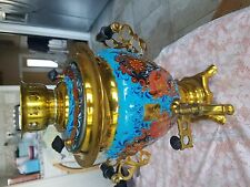 Russian Authentic Tula Electric Samovar 3 liter  Hand Painted Hohloma stile