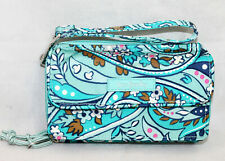 NWOT $65 VERA BRADLEY 22887 Iconic RFID All In One Crossbody Daisy Paisley