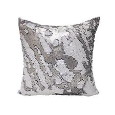 Set of 2 Decorative Mermaid Sequin Throw Pillows for Living Room Sofa Cushion